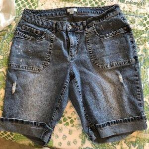Cato 16W distressed bermuda shorts